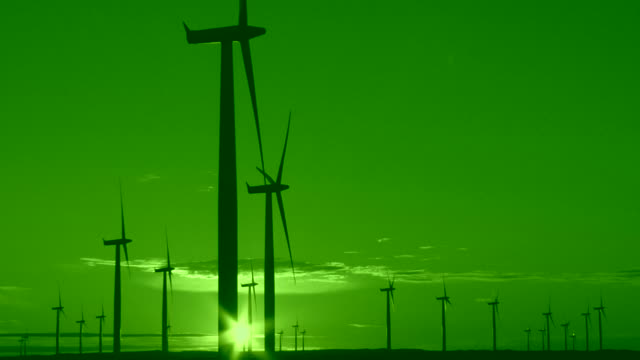 Wind Energy, Green Sunset video