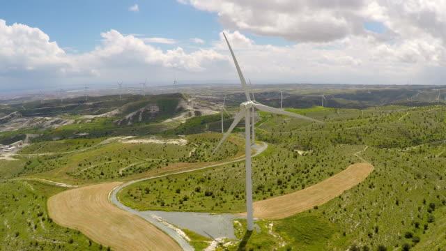 Wind farm generating power for enterprise, corporate environmental awareness video