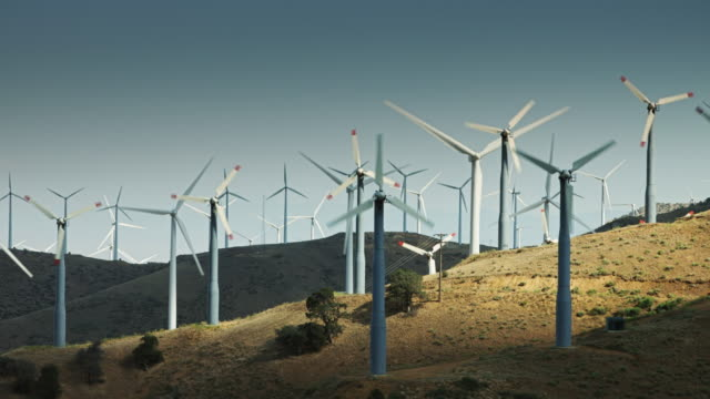 Wind Farm in Light and Shadow video