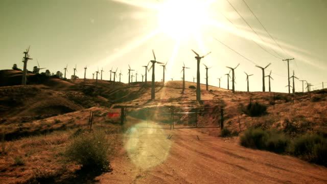 Wind Farm in the Desert Sun