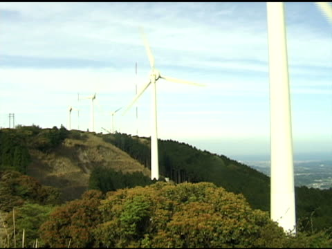 energia eolica in giappone - attrezzatura energetica video stock e b–roll