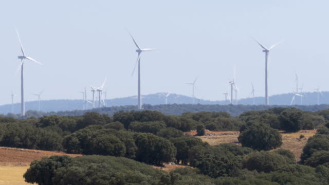 Wind Power in the Desert of Spain video