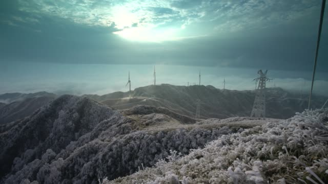 wind power plant in Ziyuan,Guilin,China video