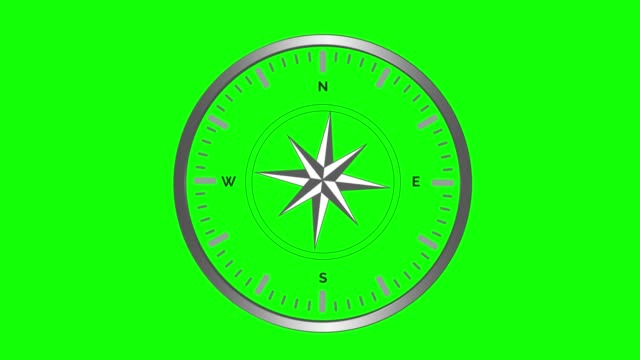 Wind rose compass with spinning pointers on green screen. 4K Wind rose compass with spinning pointers on green screen. 4K. navigational compass stock videos & royalty-free footage