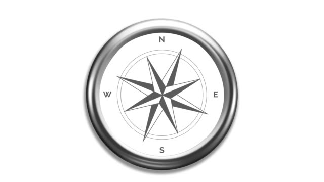 Wind rose compass with spinning pointers Wind rose compass with spinning pointers. navigational compass stock videos & royalty-free footage
