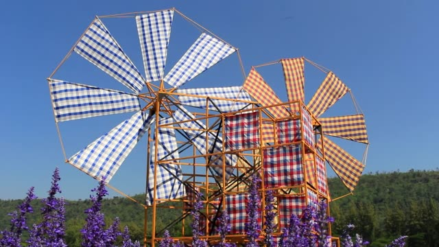 Wind rotating turbines are made of cloth video
