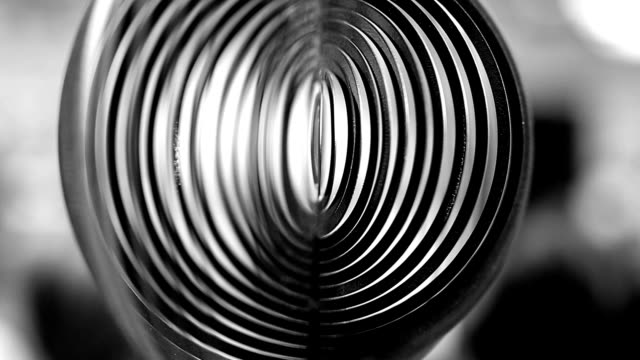 Wind spinner, black and white