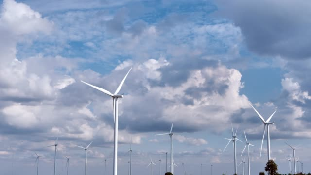 Wind turbine Farm and sky clouds. Renewable Wind Power, Green Energy Production, Sustainable Alternative Electricity, No Pollution Environment Wind turbine Farm and sky clouds. Renewable Wind Power, Green Energy Production, Sustainable Alternative Electricity, No Pollution Environment generation x stock videos & royalty-free footage