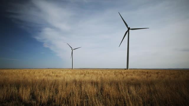 Wind turbine farm Dolly video