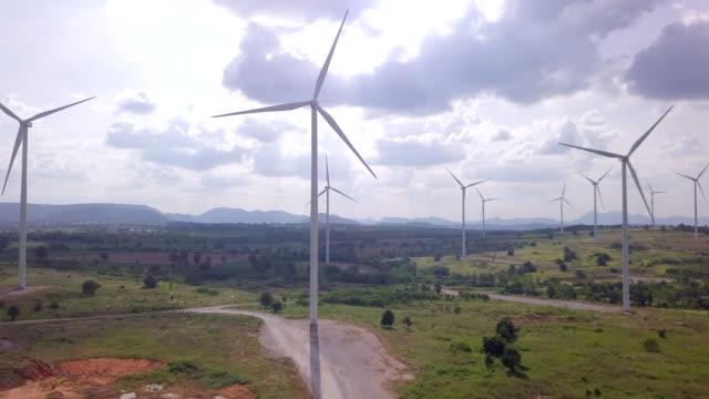 Wind turbine farm Wind turbine farm power supply stock videos & royalty-free footage