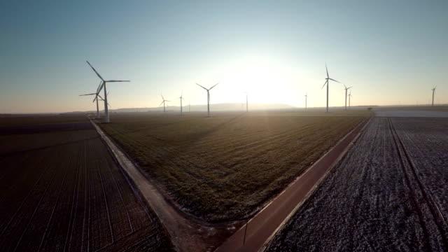 AERIAL : Wind Turbine Farm video