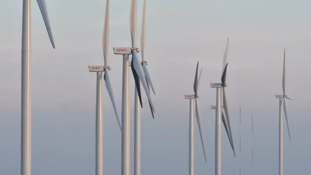 Wind turbine in Khao Khor, Phetchabun, Thailand video