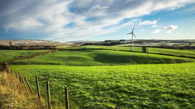 Wind Turbine in Rural Landscape