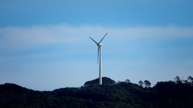 vídeos de stock e filmes b-roll de wind turbine - wellington