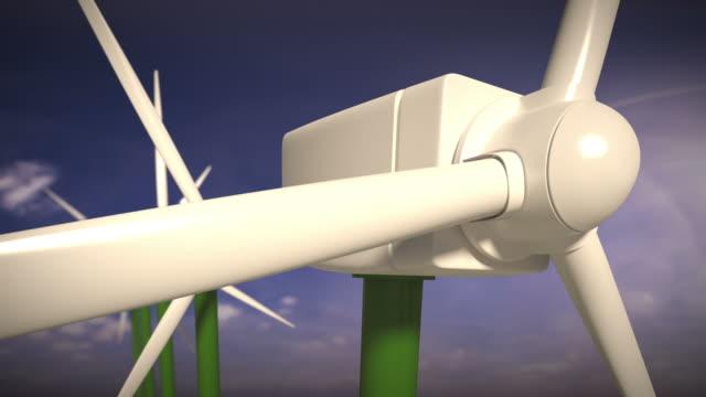 Wind turbines alternative energy. Loopable CG. video