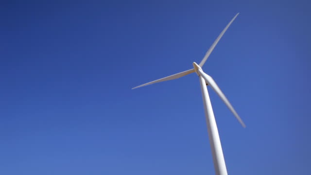 Wind Turbines and blue skies video