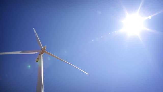 Wind Turbines and blue skies video