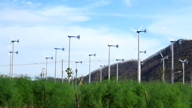 Wind turbines at Farm video