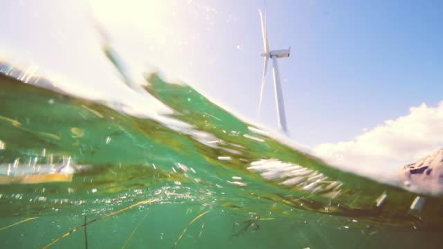 Wind turbines at sea 3 splitshot