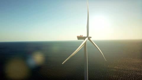 rüzgar jeneratörler denizde - rüzgar stok videoları ve detay görüntü çekimi