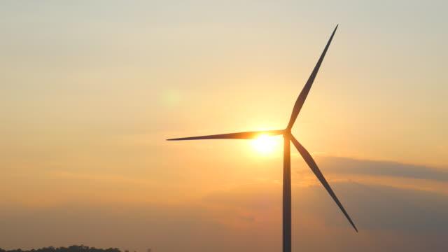 Wind Turbines at Sunset, Renewable Energy