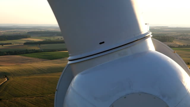 Wind turbines create renewable energy in Germany. video