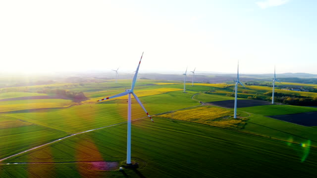 RENEWAL ENERGY - Wind Turbines In Agricultural Fields video