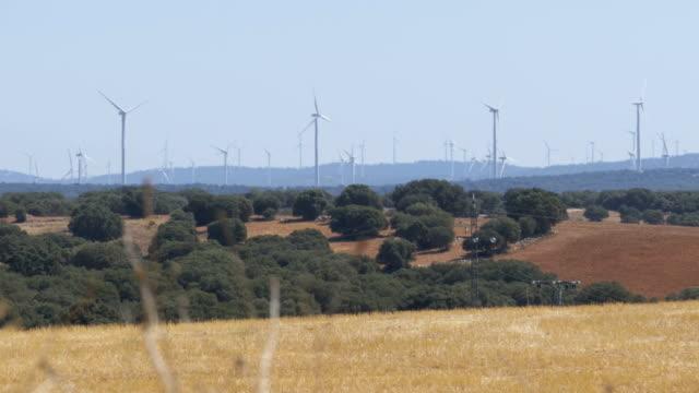 Wind Turbines in the Desert of Spain video