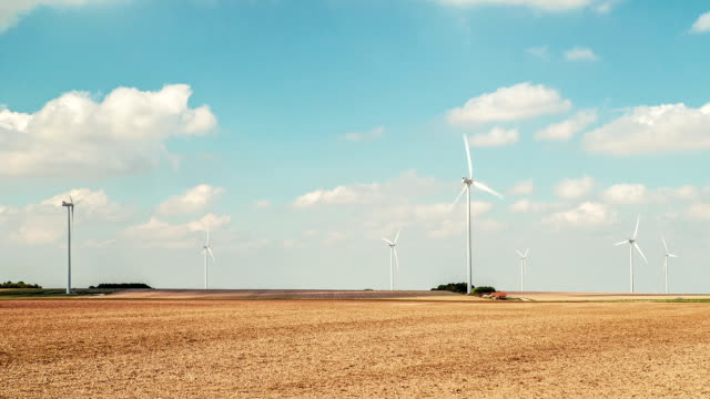 Wind Turbines Landscape 1, Time Lapse