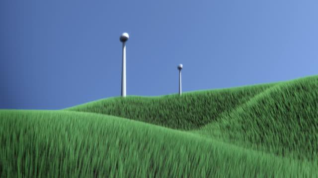 Wind Turbines on Grassland