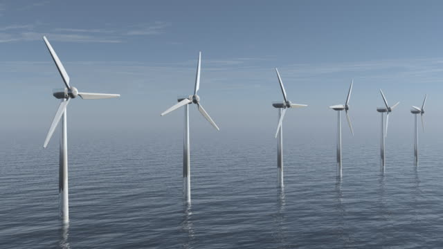 Windturbinen auf das Meer – Video