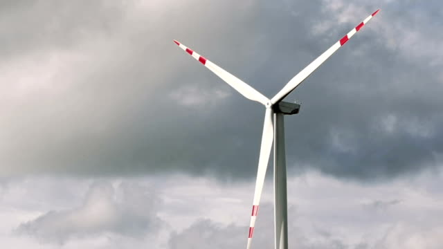 Wind turbines renewable energy generation video