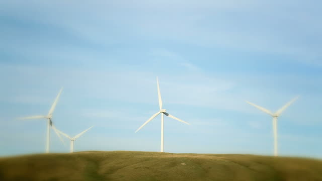 hd: wind turbines - earth day stock videos & royalty-free footage
