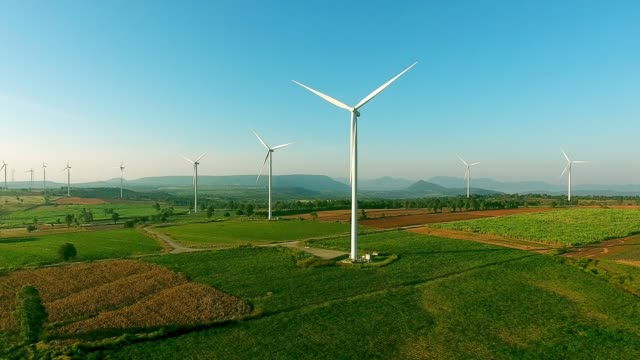 AERIAL VIEW : Wind Turbines