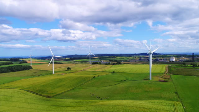 Wind turbines Wind turbines in the country renewable energy stock videos & royalty-free footage