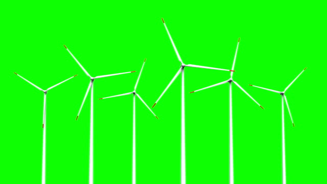 Wind turbines 3d rendered animation of wind turbines on sky background mill stock videos & royalty-free footage