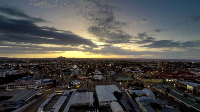 Windhoek Namibia city sunset sunset time lapse Windhoek Namibia city sunset sunset time lapse namibia stock videos & royalty-free footage