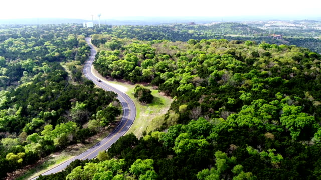 Winding Road in the Texas Hill Country near Lake Travis outside of Austin TX video