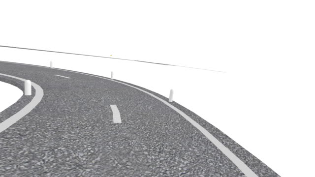 winding road (hd animation) - road signs stock videos and b-roll footage