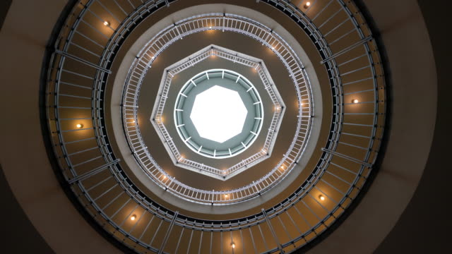 winding staircase with light well