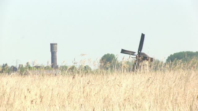 Windmill and a water tower video