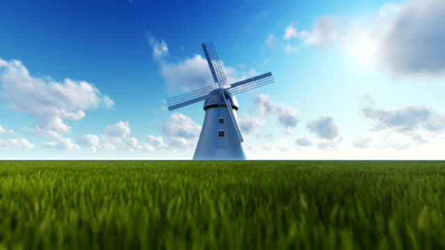 Windmill and Time Lapse Sky