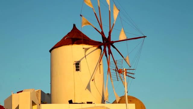 Windmill in Oia, Santorini video