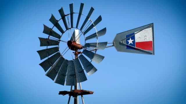 stockvideo's en b-roll-footage met windmolen perfecte lus - texas