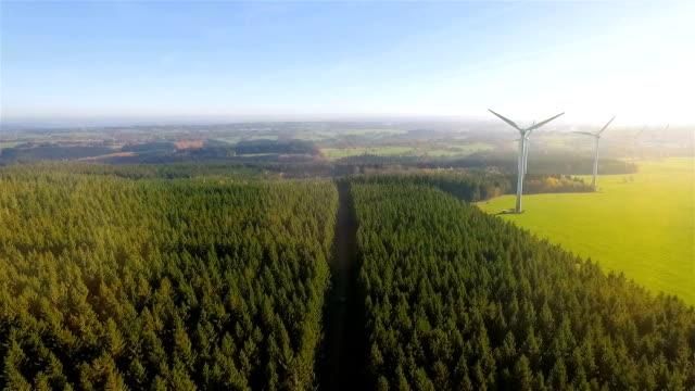 風車/風力発電技術 - 空中風力発電公園の無人機 - 生態系点の映像素材/bロール
