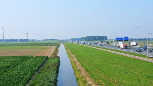 windmills and agriculture and heavy traffic. Crowded Netherlands