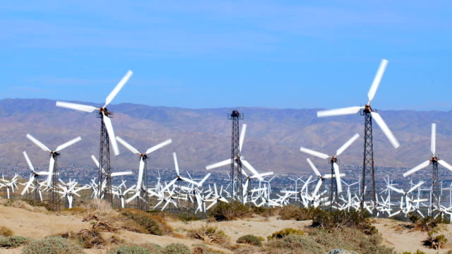 Windmills in Palm Springs video