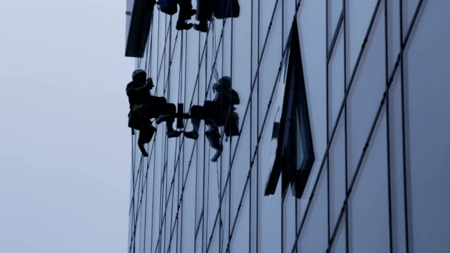 Window cleaners video