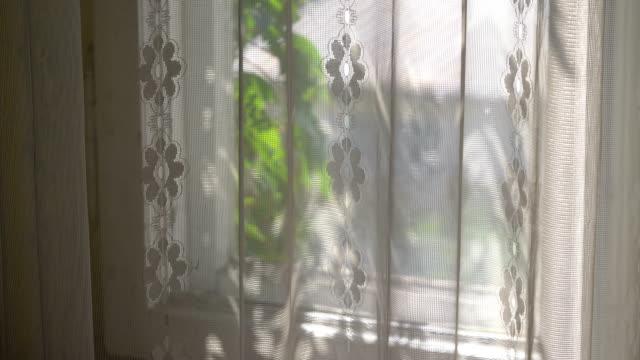 fönster i ett gammalt hus i 4k - sentimentalitet bildbanksvideor och videomaterial från bakom kulisserna