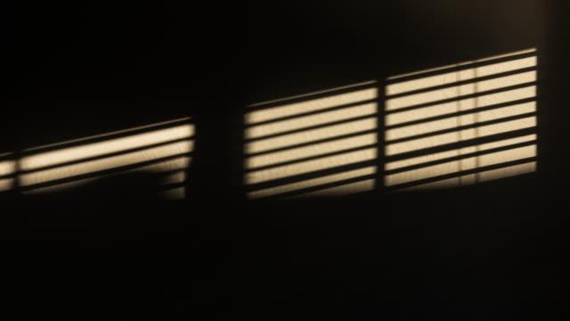 牆上 4k dci 的視窗陰影運動 - 影 個影片檔及 b 捲影像
